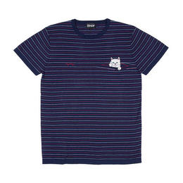 RIPNDIP PEEK A NERMAL KNIT TEE (NAVY / RED)