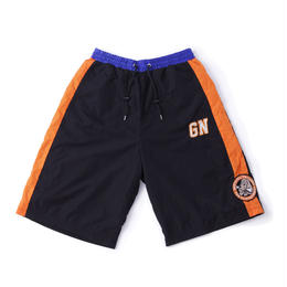 "GALFY ×  NEMES ""GF"" BASKET SHORTS (Blue / Orange)"