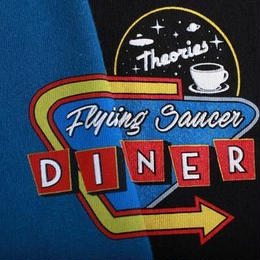 Theories Flying Saucer Diner Tee (Cool Blue, Black)