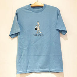 BUTTER GOODS THAT'S ALL FOLKS TEE (CAROLINA BLUE, WHITE, ASH HEATHER)