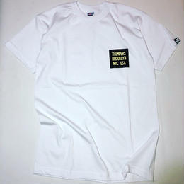 THUMPERS NYC CHEST COLOR BOX LOGO S/S TEE (WHITE)