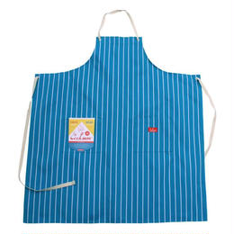 Cookman Long Apron (Stripe Light Blue)