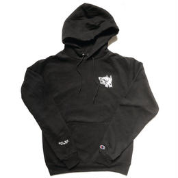 HOTEL BLUE GUARD DOG CHAMPION HOODY (BLACK)