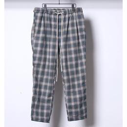 FLATLUX Ideal Eazy Pant (greygreen ckeck)