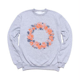"LIXTICK ""NO ROSE WITHOUT THORNS."" 9.0oz CREWNECK (LIGHT STEEL)"