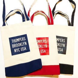 THUMPERS NYC BOX LOGO TOTE BAG (NAVY, RED, BLACK)