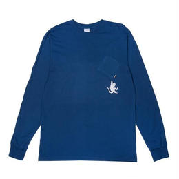 RIPNDIP HANG IN THERE L/S (BLUE HEATHER)
