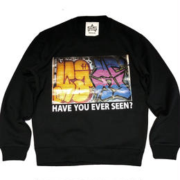 ATTACK ORIGINAL HAVE YOU EVER SEEN? CREW NECK SWEAT (BLACK)