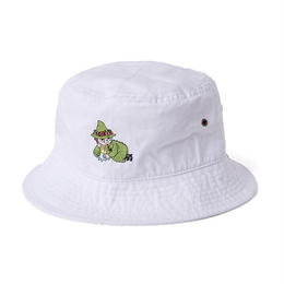 SNUFKIN x DL Headwear CHILLING BUCKET HAT (white, black, dark denim)