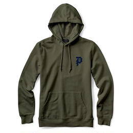 PRIMITIVE DIRTY P HOOD (OLIVE, BLACK)