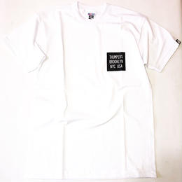 THUMPERS NYC CHEST BOX LOGO S/S TEE (WHITE, BLACK)