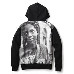 INTERBREED L.BOOGIE COLLECTION L.BOOGIE All OVER HOODIE (BLACK)