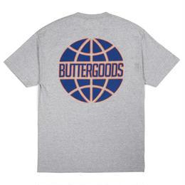 BUTTER  GOODS KEYLINE WORLDWIDE LOGO TEE (HEATHER GREY, BLACK, WHITE)