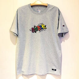 ATTACK ORIGINAL PIECE T-SHIRT 6oz (GREY)