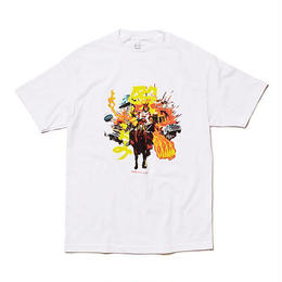 Evisen Skateboardsゑ CHARGE TEE (WHITE, BLACK, CREAM)