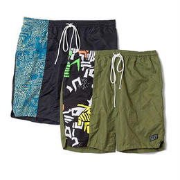 FLATLUX Kalakaua Graphic Short (olive, black)