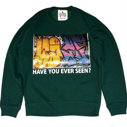 ATTACK ORIGINAL HAVE YOU EVER SEEN? CREW NECK SWEAT (GREEN)