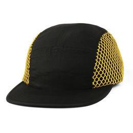 BUTTER GOODS MESH CAMP CAP (BLACK / YELLOW)