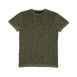 RIPNDIP NERMAL LEAF KNIT REVERSIBLE TEE (OLIVE / BLACK)