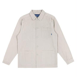 ONLY NY CANVAS CHORE COAT (NATURAL, HICKORY STRIPE)