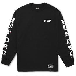HUF × FELIX HUF DBC LONG SLEEVE TEE (BLACK,  RED)