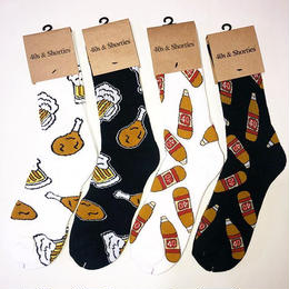40S&SHORTIES CHIKEN N' BEER SOCKS (WHITE, BLACK) 40S ORIGINAL SOCKS (WHITE, BLACK)