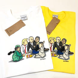 40s&Shorties SPIN THE BOTTLE TEE (WHITE, YELLOW)