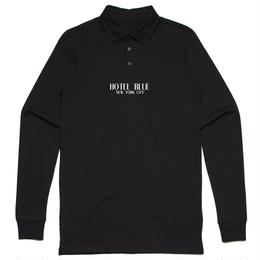 HOTEL BLUE POLO LOGO LONG SLEEVE (BLACK)