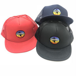 ATTACK ORIGINAL PRAWNS RAINBOW MESH CAP (RED, NAVY, BLACK)