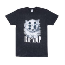 RIPNDIP  Triplet Tee (Black Mineral Wash , Purple)
