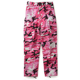 Rothco COLOR CAMO TACTICAL BDU PANTS (PINK CAMO)
