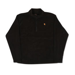 PIZZA EMOJI 1/4 ZIP FLEECE (BLACK)