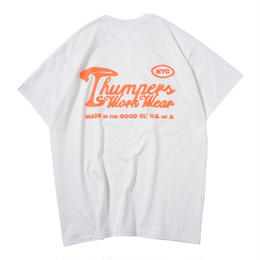THUMPERS NYC  WORK LABEL HEAVYWEIGHT TEE (WHITE)