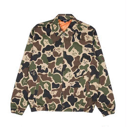 RIPNDIP NERMAL CAMO COTTON COACH JACKET (ARMY CAMO)