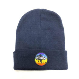 "ATTACK ORIGINAL PRAWNS ""cotton beanie"" (NAVY)"