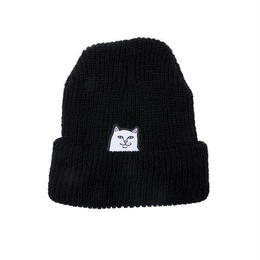 RIPNDIP LORD NERMAL RIBBED BEANIE (BLACK, CHARCOAL)