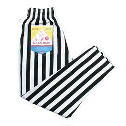 Cookman Chef Pants - Wide Stripe Black