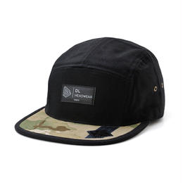 DL Headwear Omega 5Panel Camp Cap (black multi camo)