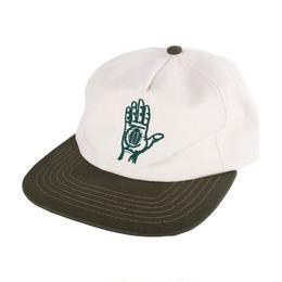Theories Hand of Theories Strapback Cap (Pearl/Forest Green)