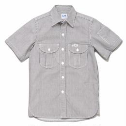 【Lee】WORK  SHIRTS(White)/ワークシャツ半袖(ホワイト)
