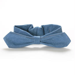 【Mr.PINK】3WAY DENIM HAIRBAND/LIGHT BLUE デニムヘアバンド