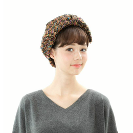 【Mr.PINK】3WAY TWEED HAIR BAND /ORANGE ツイードヘアバンド/オレンジ