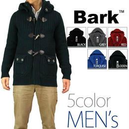 バーク(Bark) メンズニットダッフル ジャケット コート