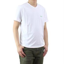 ヒューゴ・ボス (HUGO BOSS) TEEVN メンズ Vネック Tシャツ 50271056 10106415 100 ホワイト系 サイズ(#M)