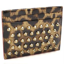 クリスチャン ルブタン (Christian Louboutin) カードケース3165045 3221BROWN/GOLD ブラウン系ブラック