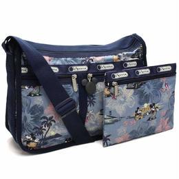レスポートサック (Le Sport sac) Deluxe Everyday Bag デラックスエブリディバッグ斜め掛けショルダーバッグ7507 P938ネイビー系