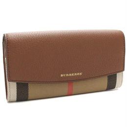 バーバリー (BURBERRY) 2つ折り 長財布 小銭入付き3975329TAN ブラウン系マルチカラー( 財布 )