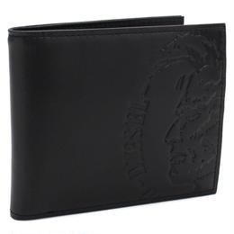 ディーゼル DIESEL HIGH PROFILEE レザー 2つ折り財布 小銭入れ付き ブラック