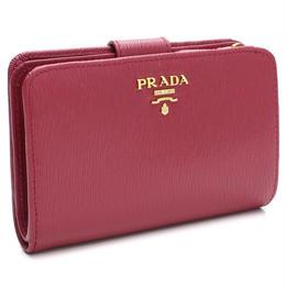 プラダ アウトレット(PRADA(OUTLET)) 2つ折り財布 小銭入れ付き