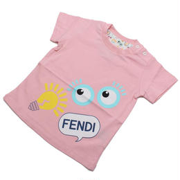 フェンディ (FENDI) ベビーTシャツ ベビー服BUI000 7AJ F0C11ピンク系サイズ(#9M)